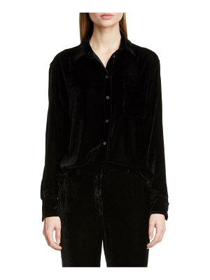 SIES MARJAN sander silk & cotton fluid corduroy shirt