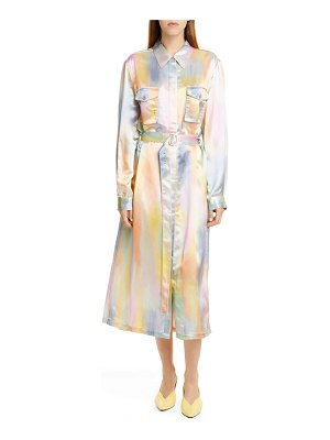 SIES MARJAN tie dye satin dress