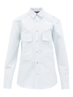 SIES MARJAN torres striped cotton-blend shirt