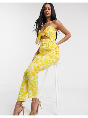 Significant Other floral rockpool jumpsuit-yellow