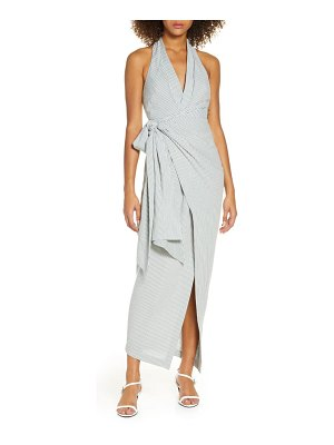 Significant Other hartley halter maxi wrap dress
