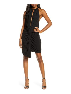 Significant Other loco halter cocktail minidress
