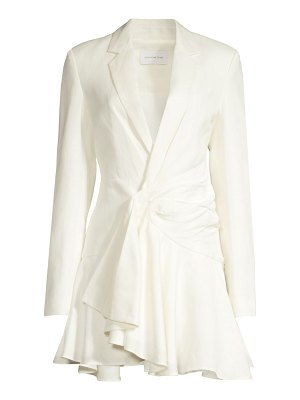 Significant Other orchid linen-blend blazer dress