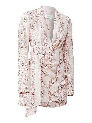 Significant Other reflection snake print blazer dress