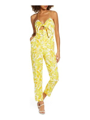 Significant Other rockpool floral tie front linen blend jumpsuit