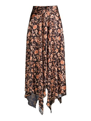 Significant Other starmist draped floral midi skirt