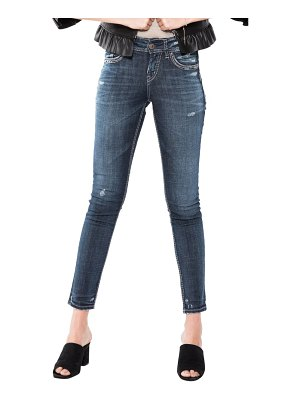 Silver Jeans Co. suki distressed skinny fit jeans