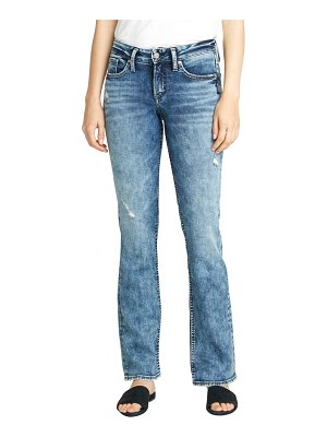 Silver Jeans Co. suki distressed slim fit bootcut jeans