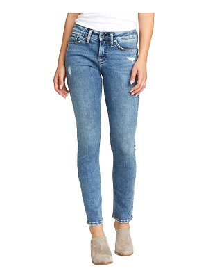 Silver Jeans Co. suki distressed slim fit jeans