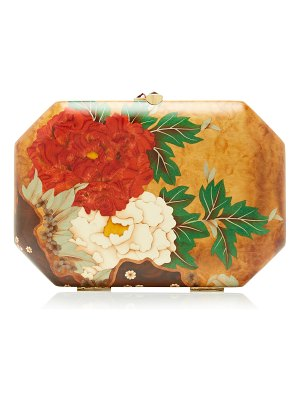 Silvia Furmanovich marquetry pink ginko leaves clutch