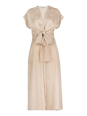 Silvia Tcherassi aperol knotted midi dress