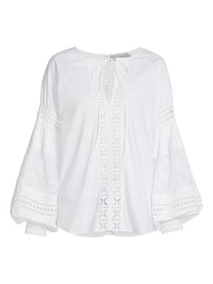 Silvia Tcherassi bethesda embroidered puff-sleeve blouse