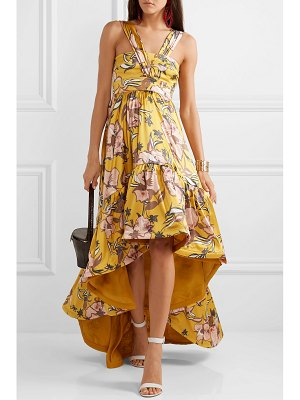 Silvia Tcherassi búgula asymmetric floral-print silk-blend satin maxi dress
