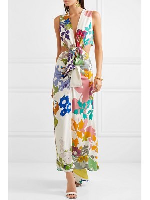 Silvia Tcherassi cartagena open-back floral-print crepe maxi dress