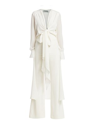 Silvia Tcherassi heidy layered knot stretch-silk jumpsuit