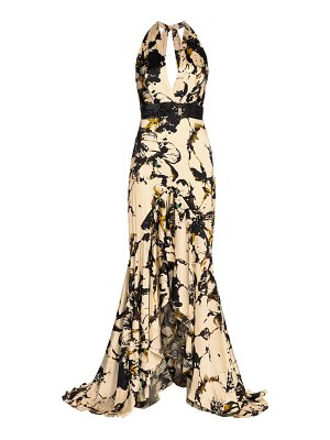 Silvia Tcherassi lizzie plunging floral gown