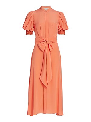 Silvia Tcherassi novarra puff-sleeve silk crepe de chine dress