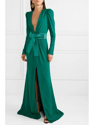 Silvia Tcherassi sicily gathered crepe gown