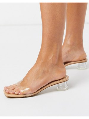 SIMMI Shoes simmi london arla mules with feature heel in blush-beige