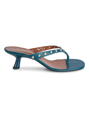 Simon Miller beep studded leather thong sandals