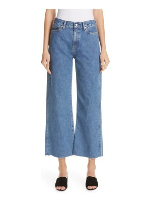 Simon Miller crop frayed wide leg jeans