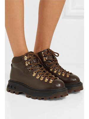Simon Miller high tracker shell-trimmed leather ankle boots