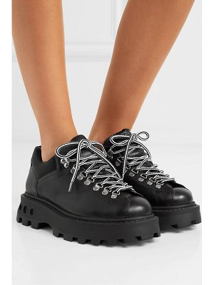 Simon Miller low tracker shell-trimmed leather boots