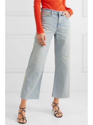 Simon Miller w006 cropped high-rise wide-leg jeans