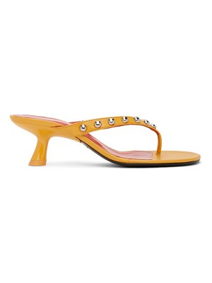 Simon Miller yellow beep thong heeled sandals