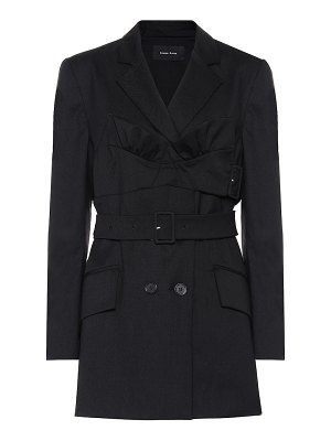 Simone Rocha belted stretch-wool jacket