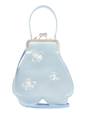 Simone Rocha crystal-flower satin handbag