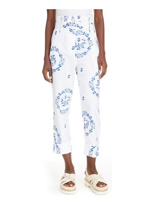 Simone Rocha delft embroidered paperbag waist trousers