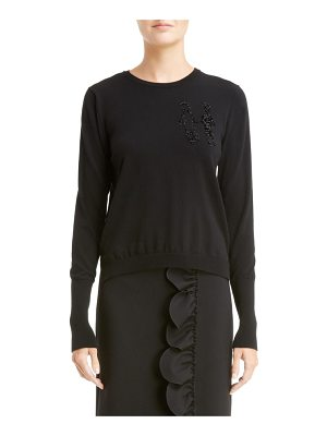 Simone Rocha doll embroidered sweater