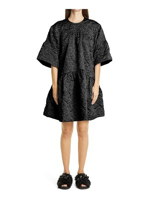 Simone Rocha drop waist cloque dress