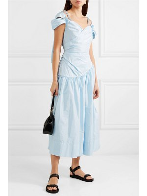 Simone Rocha embellished ruched taffeta dress