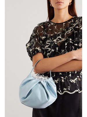 Simone Rocha embellished satin and leather tote