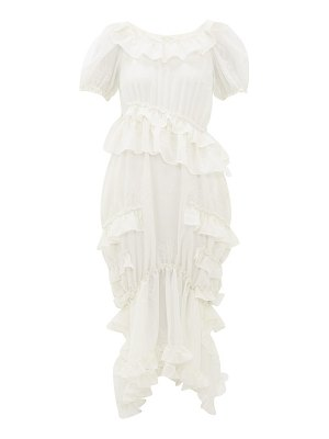 Simone Rocha embroidered georgette midi dress