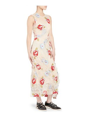 Simone Rocha embroidered ruched tulle midi dress