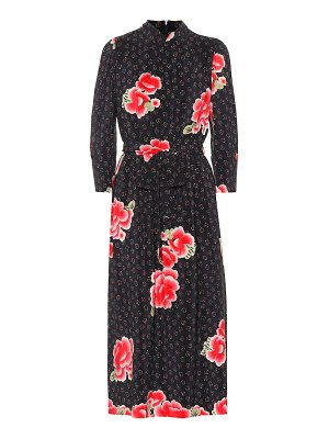 Simone Rocha floral silk midi dress