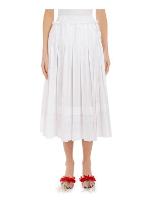 Simone Rocha Lace-Trim Pleated Midi Skirt