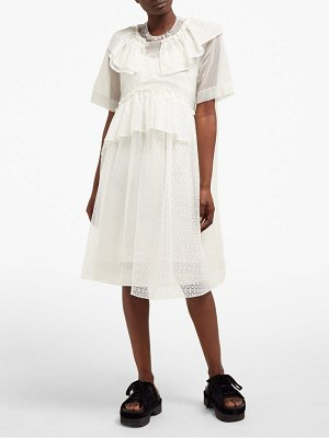 Simone Rocha lace trimmed beaded neck tulle dress