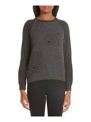 Simone Rocha patchwork wool & cashmere sweater