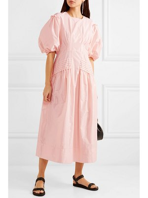 Simone Rocha pintucked taffeta midi dress