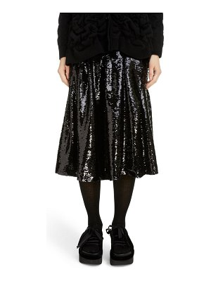 Simone Rocha pleated sequin midi skirt