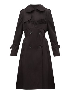 Simone Rocha ruffle trimmed belted double breasted trench coat