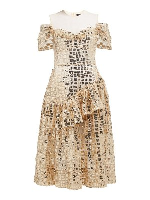 Simone Rocha ruffled sequinned midi dress