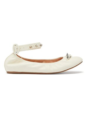 Simone Rocha spike and crystal-embellished leather ballet flats