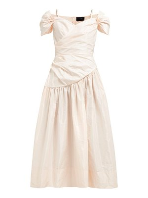 Simone Rocha sweetheart neckline taffeta midi dress