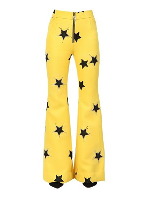 SIMONGAO Stars printed flared pants