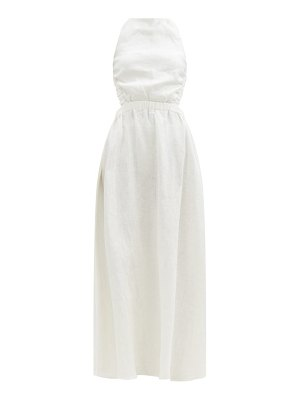 Sir alena crossover-back linen maxi dress
